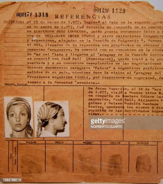 Picture of a document that forms part of the 'Archives of Terror' taken at the Documentation and Archive Center for Human Rights Defense at the...