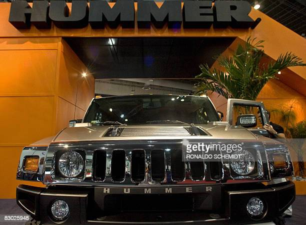 Picture of a General Motors Hummer H2 taken during its presentation to the media at the International Hall of the Automobile 2008 in Mexico City on...