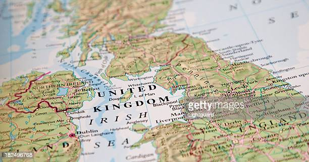 Picture of a map focused on the words United Kingdom