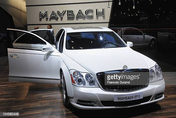 Picture of a Maybach 57S taken during a press day at the Paris Motor Show at Parc des expositions Porte de Versailles on September 30 2010 in Paris...