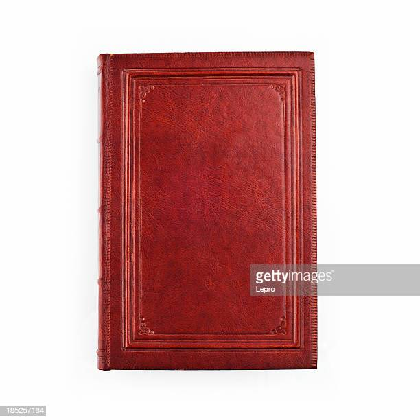 a picture of a red book on a white background - leather stock photos and pictures