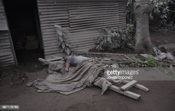 Picture of a victim of the Fuego Volcano in San Miguel Los Lotes a village in Escuintla Department about 35 km southwest of Guatemala City taken on...