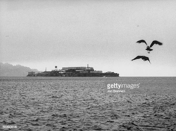 Picture of Alcatraz prison after the June 1962 escape
