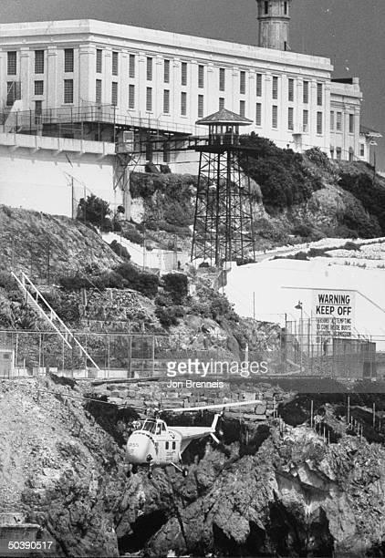 Picture of Alcatraz prison where many prisoners escaped