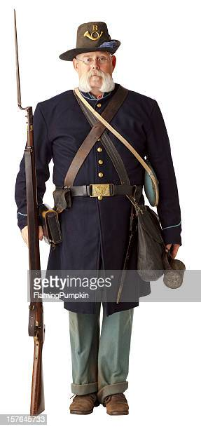 A picture of an American civil war Union soldier