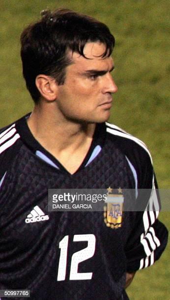 Picture of Argentine goalkeeper Pablo Cavallero taken 02 June 2004 in Belo Horizonte Brazil AFP PHOTO/Daniel GARCIA