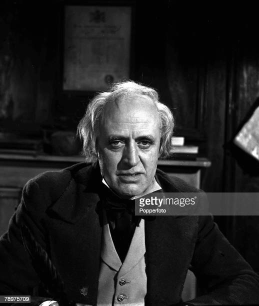 1951 A picture of British actor Alistair Sim filming Scrooge