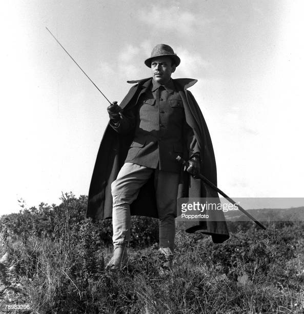 1952 A picture of British actor Herbert Lom during the making of the film Rough Shoot