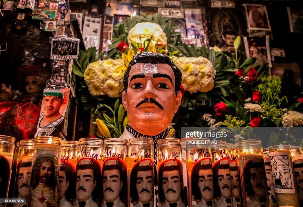 MEXICO-RELIGION-DRUGS-MALVERDE : News Photo