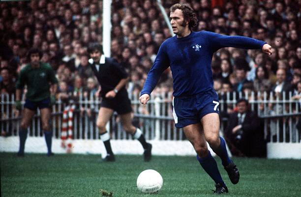 Picture of Chelsea's Tommy Baldwin on the ball