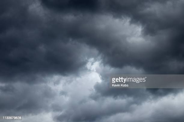 picture of cloud formation at bad weather in landscape mode. - wolke stock pictures, royalty-free photos & images