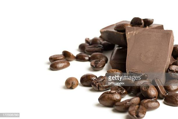a picture of coffee beans for a mocha coffee  - coffee with chocolate stock pictures, royalty-free photos & images