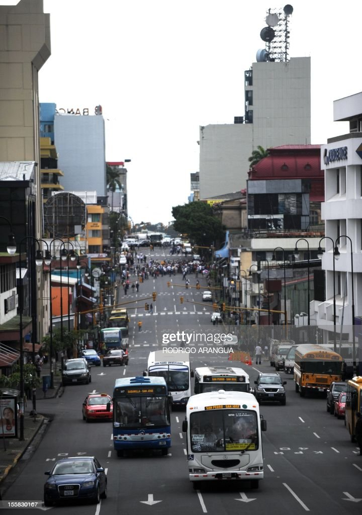 Picture of Colon Avenue in downtown San Jose, Costa Rica, taken on November 8, 2012