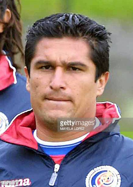 Picture of Costa Rican player Cristian Oviedo taken 30 June 2004 in Cartago 10 Km east of San Jose AFP PHOTO/Mayela LOPEZ
