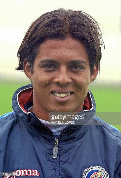 Picture of Costa Rican player Victor Bolivar taken 30 June 2004 in Cartago 10 Km east of San Jose AFP PHOTO/Mayela LOPEZ