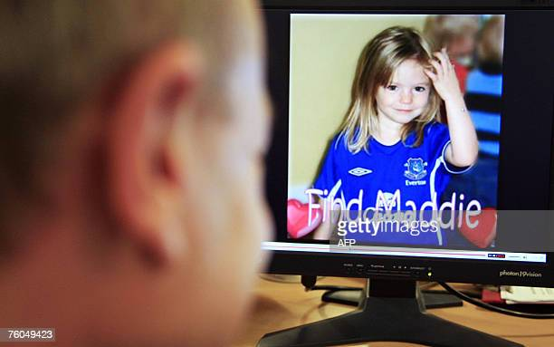 A picture of fouryearold British girl Madeleine McCann who disappeared on a family holiday in Portugal appears on a computer screen on the YouTube...
