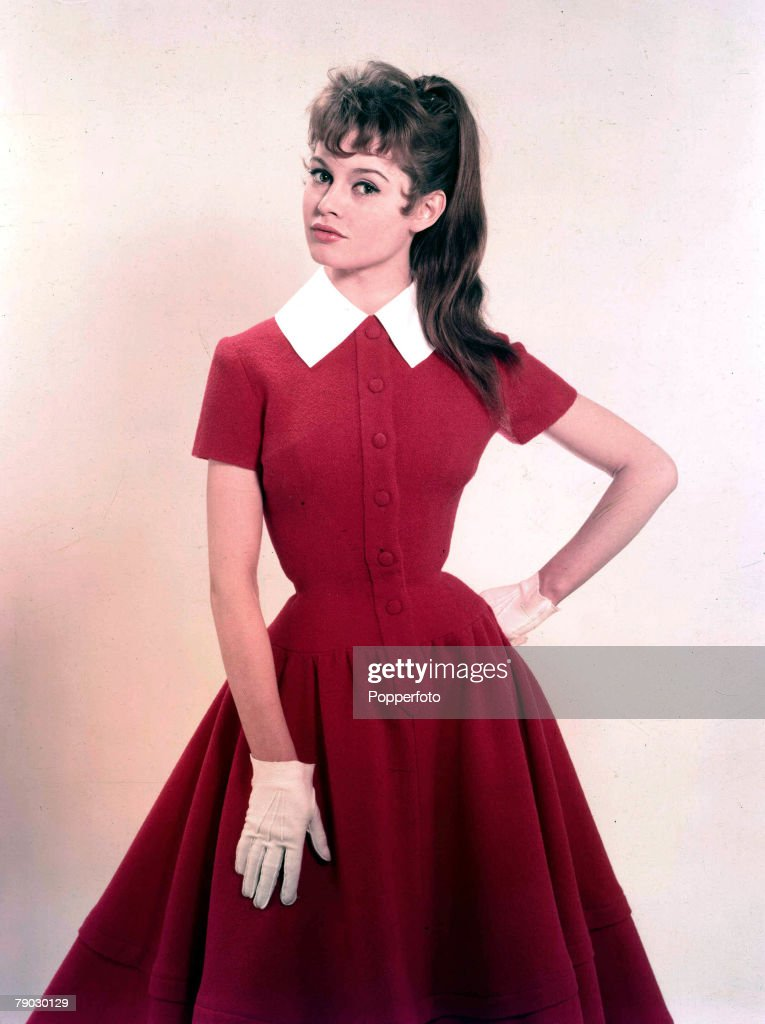 1957. A picture of French actress Brigitte Bardot. : News Photo