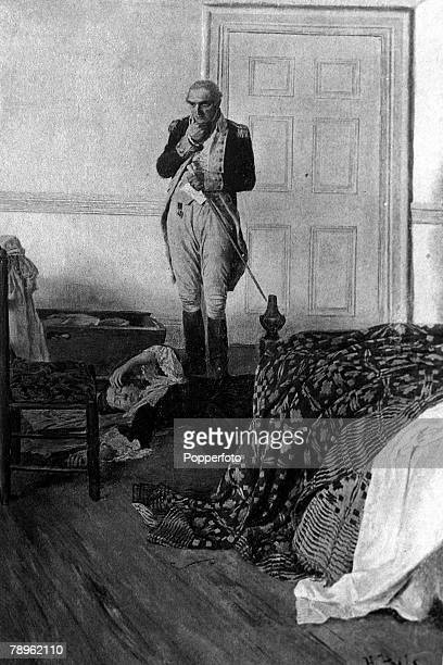 A picture of General Benedict Arnold the American soldier and turncoat seen after telling his wife of the discovery of his treason