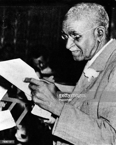 A picture of George Washington Carver the US botanist Agricultural chemist and scientist