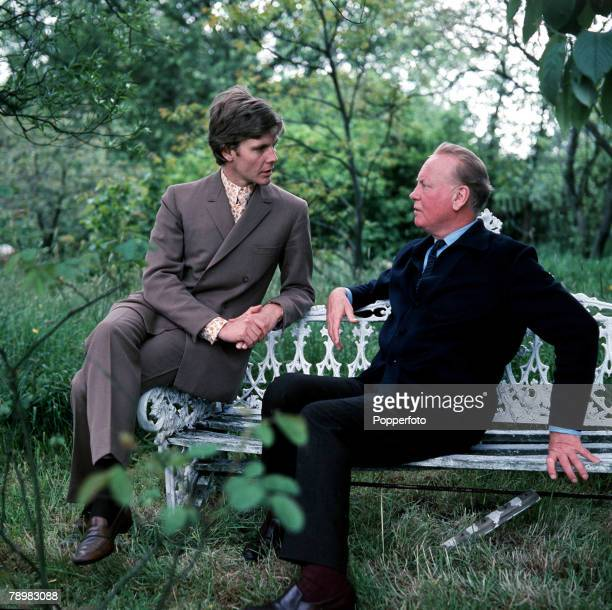 1967 A picture of Godfrey Winn at his Sussex home with his famous film star godson James Fox