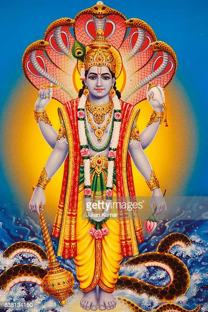 picture of hindu god vishnu - vishnu stock photos and pictures