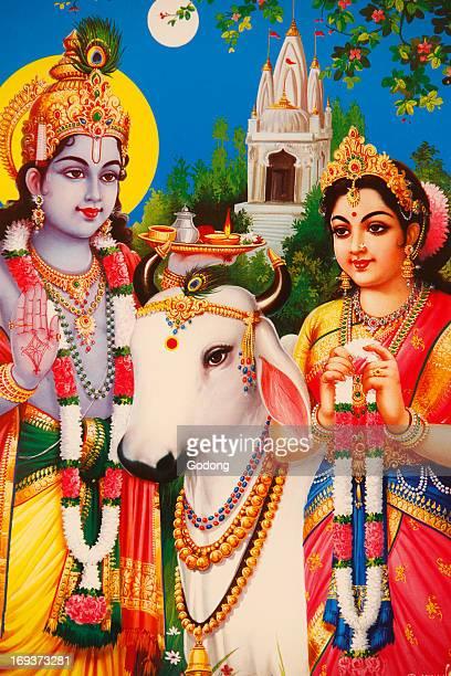 Picture of Hindu gods Rada & Krishna