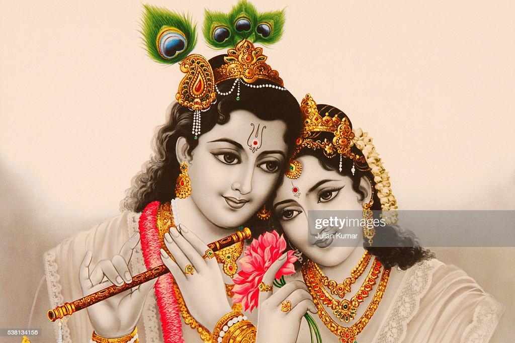 Picture of Hindu gods Radha & Krishna : Stock Photo