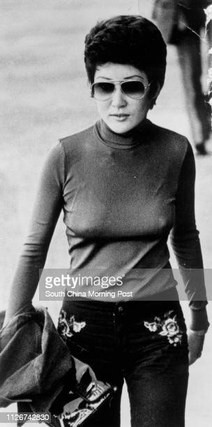B/W picture of Hong Kong film star Betty Tingpei on her way to Tsunwan Coroner's Court this morning But she was not called to the stand 17 September...