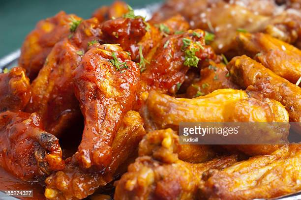 picture of hot spicy buffalo wings - chicken wings stock pictures, royalty-free photos & images