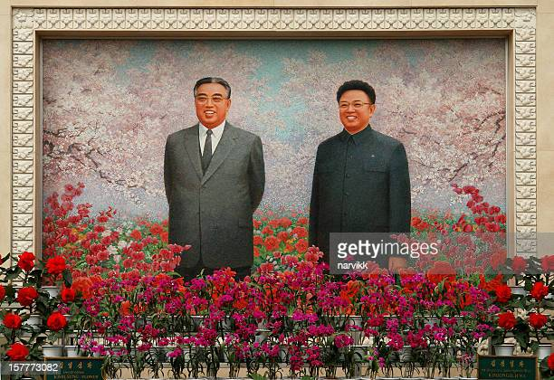 Picture of Kim Il-sung and KimJong-il