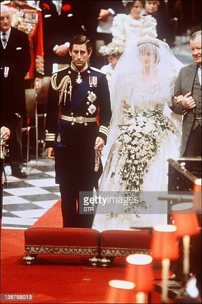 Picture of Lady Diana Princess of Wales with Prince Charles of Wales at their wedding at St Paul Cathedral in London in this file photo dated 29 July...