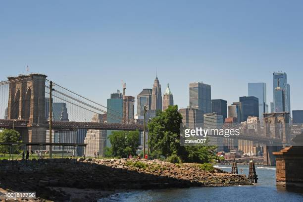 Picture Of Lower Manhattan Taken From Brooklyn Bridge Park From Underneath The Manhattan Bridge. Photo Taken Sunday July 8, 2018.