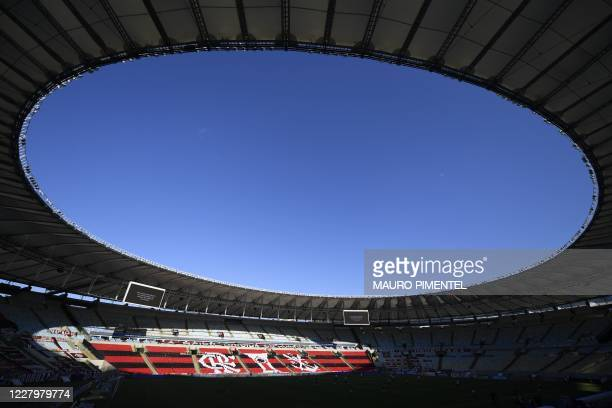 Picture of Maracana Stadium taken before the start of the first round of the Brazilian Football Championship between Flamengo and Atletico Mineiro,...