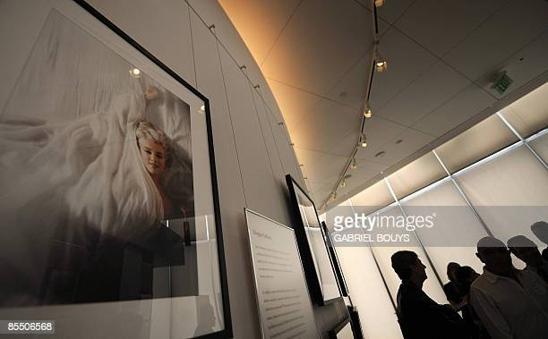 A picture of Marilyn Monroe by Douglas Kirkland is on display at the Annenberg Space for Photography in Los Angeles March 19 2009 The inaugural...