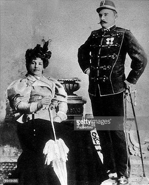 A picture of Mata Hari the Dutch dancer in France who was executed as a German spy in World War I Mata Hari is pictured with her husband Caltain...