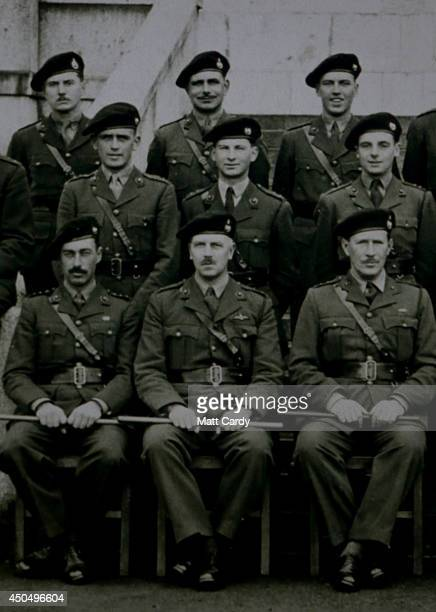 A 1943 picture of Normandy veteran John Brunel Cohen is displayed at his home in Chelsea on May 14 2014 in London England On DDay June 6 1944 the...