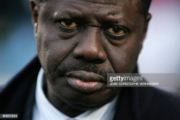 Picture of Olympique de Marseille's president Pape Diouf taken before the start of the French L1 football match Metz vs Marseille at SaintSymphorien...