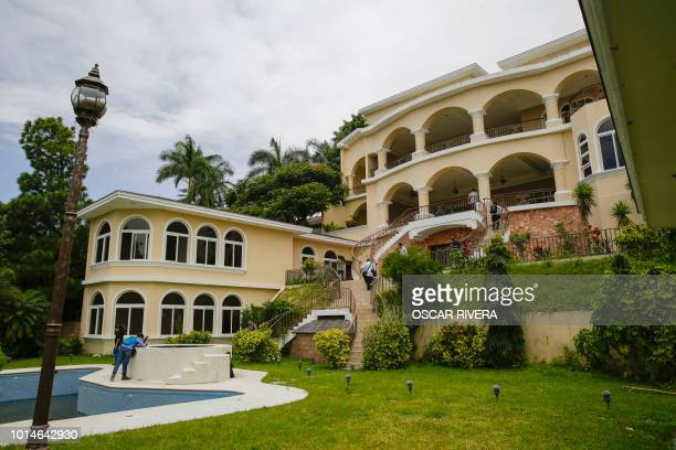 Picture of one of the properties of Salvadorean former president Elias Antonio Saca in San Salvador taken on August 10 2018 The Attorney General's...
