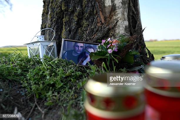 A picture of one the friends of Niklas Feierabend a youth player of the Bundesliga soccer club Hannover 96 is seen on May 2 2016 in Hanover Germany...