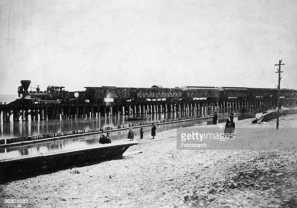 Picture of President Abraham Lincoln's funeral train circa 1865