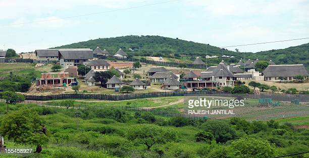 A picture of President Jacob Zuma's private residence in Nkandla some 178 kilometres north of Durban on November 4 2012The Democratic Alliance leader...