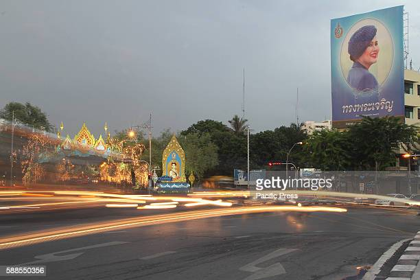 A picture of Queen Sirikit seen on top of a building in Bangkok the 12 of August is the Queen's birthday Thai people celebrated this day as national...