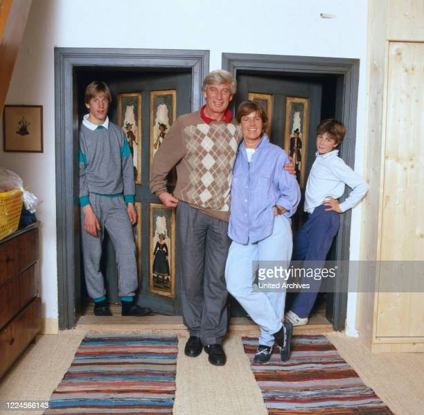 Picture of Siegfried Rauch and his family in their home, 1980.