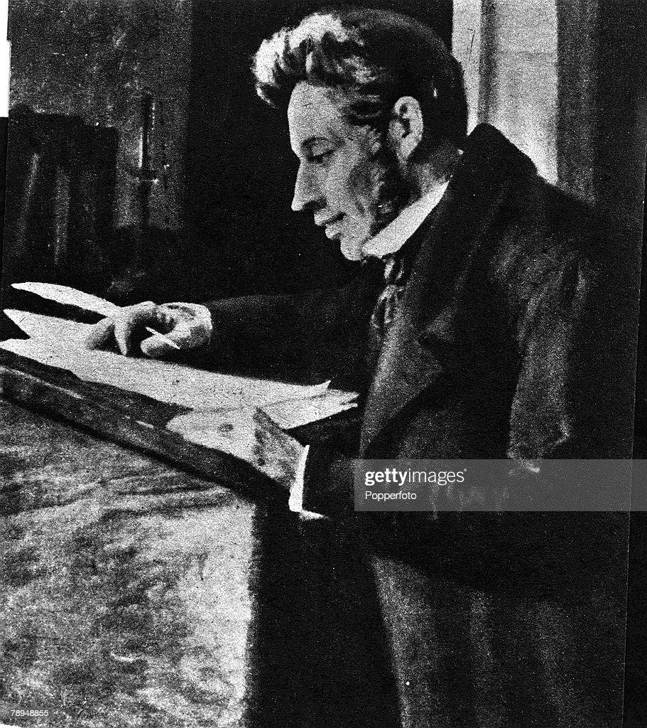 A picture of Soren Aabye Kierkegaard (1813-1855), the Danish philosopher and theologian. : News Photo