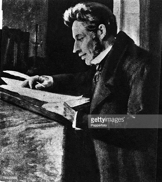 Picture of Soren Aabye Kierkegaard , the Danish philosopher and theologian