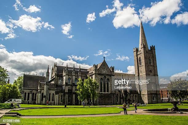 immagine di saint patrick's cathedral a dublino - dublino irlanda foto e immagini stock