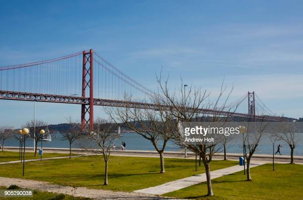 Picture of The 25 de Abril Bridge. Lisbon, Portugal.