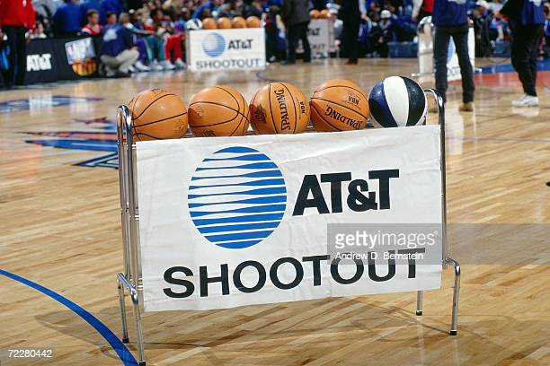 A picture of the ball rack during the 1997 ATT Three Point Shootout on February 8 1997 at the Gund Arena in Cleveland Ohio NOTE TO USER User...