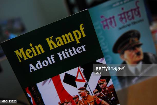 Picture of the book Mein Kampf It is an autobiography on Adolf Hitler The book has become increasingly popular across the country