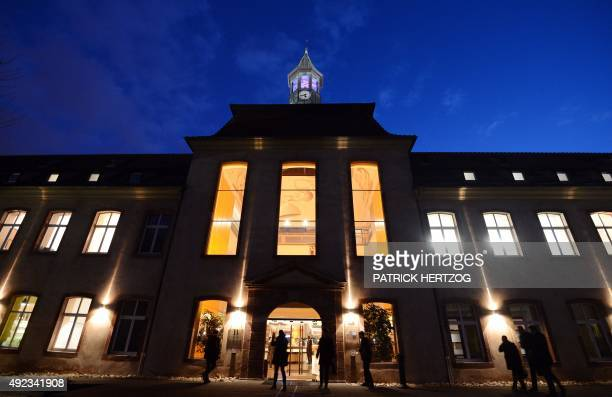 Picture of the building of the Ecole Nationale d'Administration at night on January 14 2013 in Strasbourg eastern France The National School of...